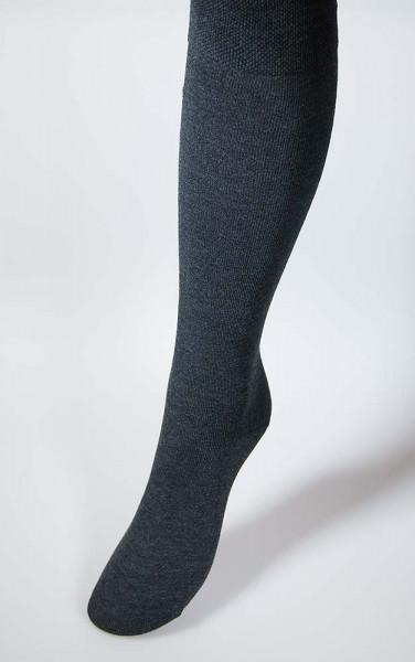 Kniestrumpf für Damen mit Komfortrand - 3 dunkle Farbtöne