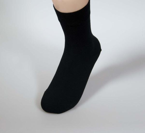 RS Damensocken mit Softrand - schwarz