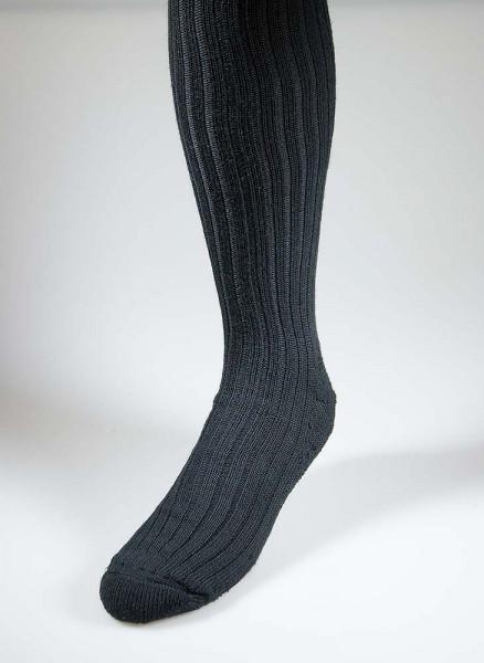 Kniebundstrumpf schwarz, Frotteesohle, Wollmischung