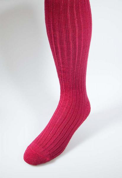 Kniebundstrumpf warmes (Kirsch-) Rot, Frotteesohle, Wollmischung nur noch in Größe 35 - 38, 42 - 44