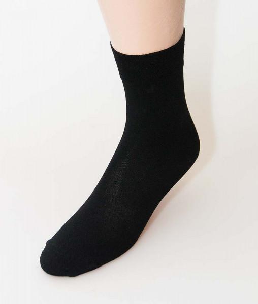 RS BAMBUS-Viskose Socken mit Softrand - 3 Paar schwarz