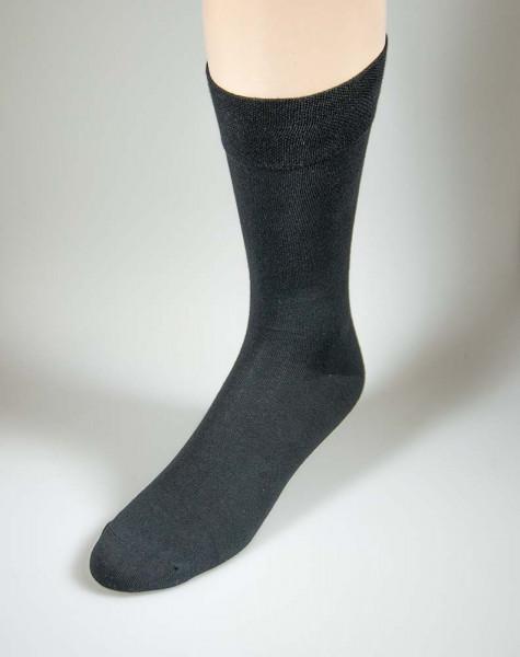 Herrensocken mit Softrand - in klassischem schwarz, Größe 47 - 50